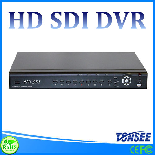 2015 Cheapest full hd cctv dvr 8CH 1080P HD SDI DVR CCTV recorder 2 HDD support with alarm and audio