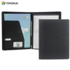 Professional Business Portfolio Padfolio Cheap PVC Zipper Bag Folder Document Case Organizer A4 PU Leather