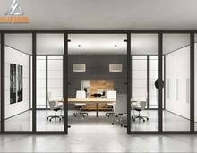 Single glass wall aluminium office partition,Frameless Glass Partitions,Commercial Framing Office Partition