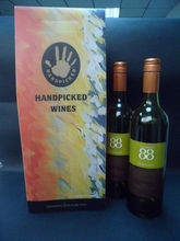 Customized wine packing/wine glass packaging boxes
