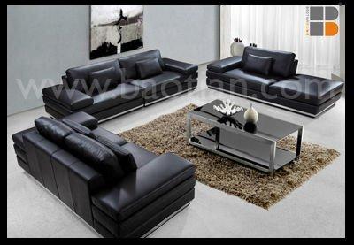 Modern living room furniture high end luxury leather sofa for High end living room furniture