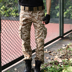 Wholesale casual cotton mens cargo pants with side pockets