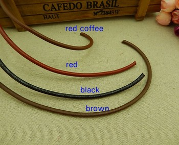2/3/4/5mm different size Factory wholesale price multi color genuine leather cord
