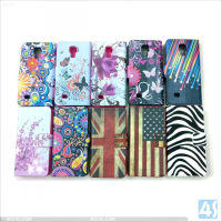 Printed Design PU leather Magnetic Flip Case Cover with card lsot for Samsung Galaxy S4 Mini /9190--P-SAMI9190CASE009