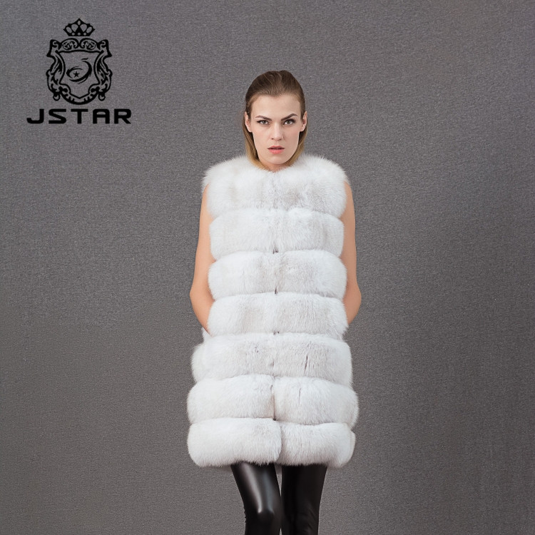 Large assortment real silver fox fur woman vest coat leather waistcoat