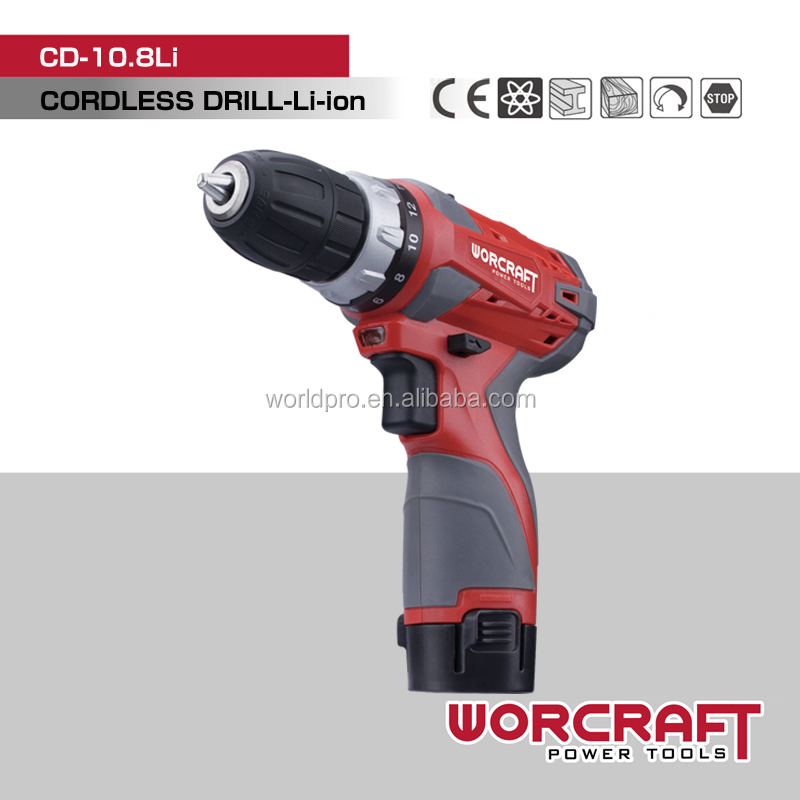 10mm 10.8V Li-ion Cordless Drill WOCRCRAFT CD-10.8Li