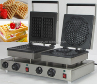 Hot Sale 2 in 1 Waffle Baking System 110v 220v Electric Commercial Heart Shape Waffle and Liege Waffle Baker