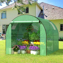 low cost walk in garden mini polytunnel greenhouse