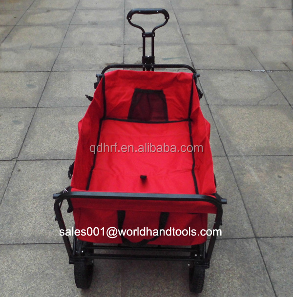 Collapsible Folding Outdoor Utility Wagon, Red