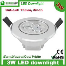 High power 300lm external driver led downlight fixture dimmable 85-265V