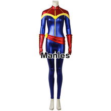 Factory Price Custom Made Halloween Unisex Captain Marvel Carol Danvers Cosplay Costumes with Boots