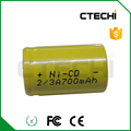 NiCD 2/3A battery 1.2V rechargeable battery