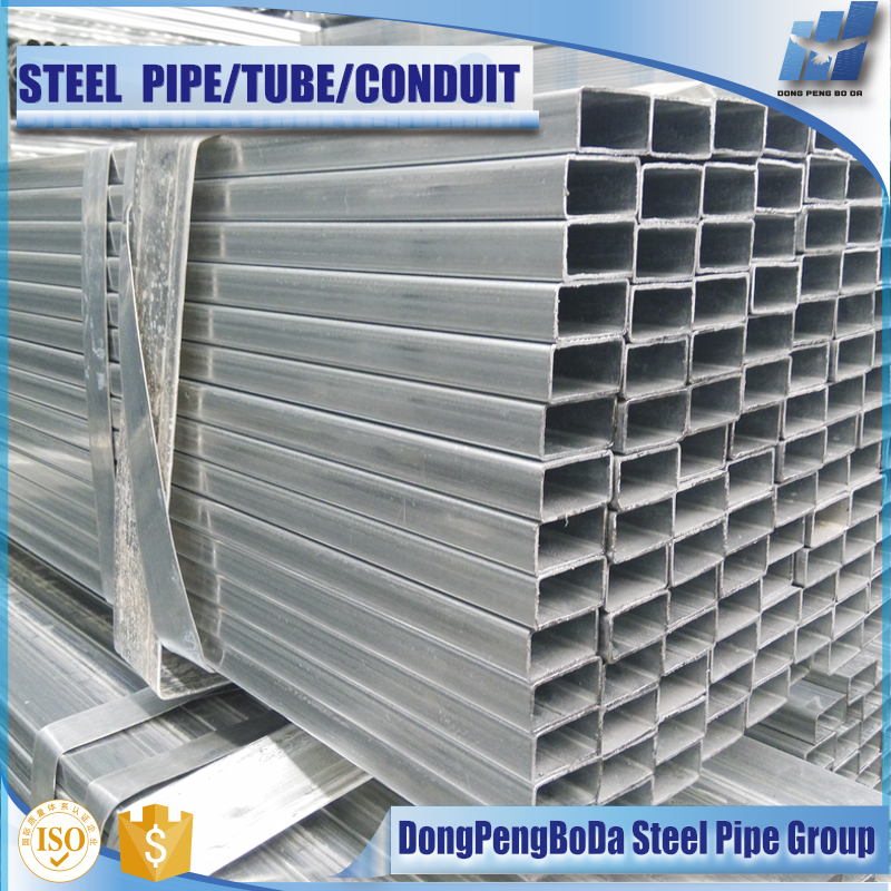 Thinner wall thickness pre galvanized gi square pipe