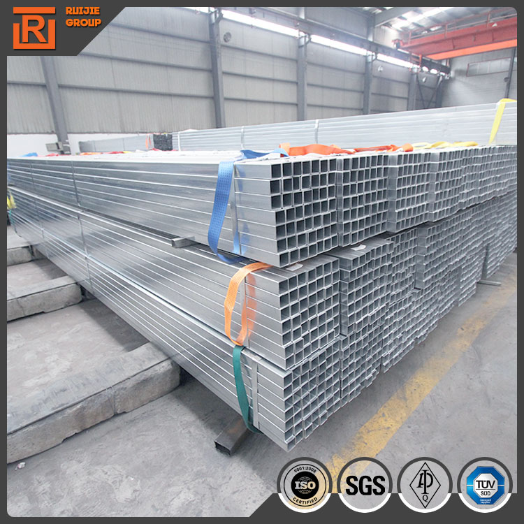 Weld steel square tube material specifications, erw steel pre galvanized square tubes factory price