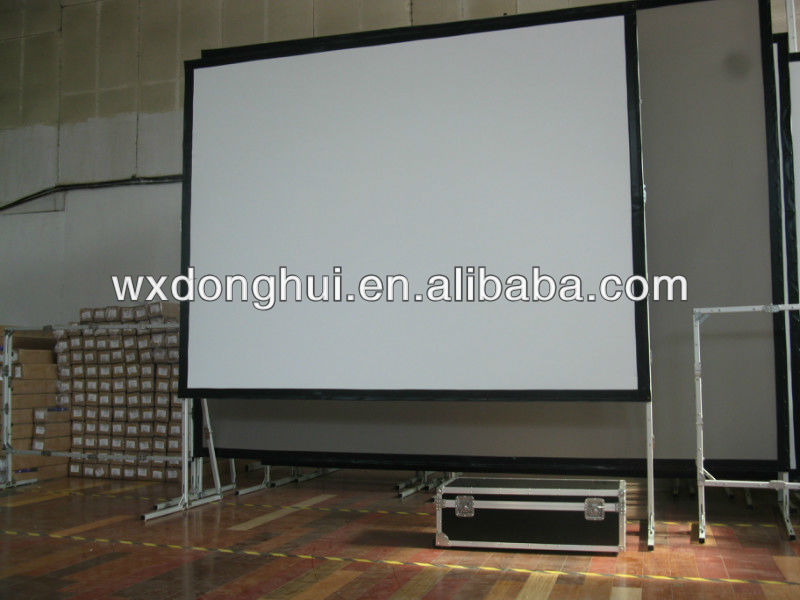 portable 300 inch fast fold projector screen