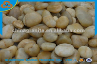 yellow color river polihsed wholesale pebbles stone
