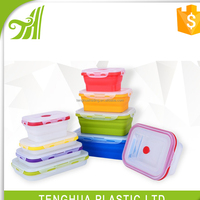 Silicone Product Silicone Foldable Lunch Box