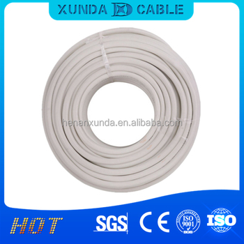 PVC Insulated Low Voltage 2 copper core electrical housing wire RVV 2*1.5 flexible wire