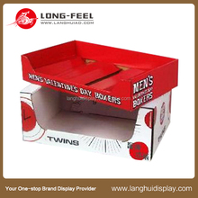 China supplier new product base and lid corrugated display drawer flip top folding paper carton display box