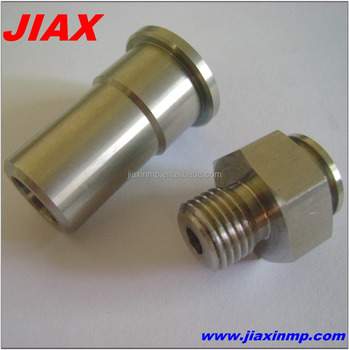 customized cnc turned parts for pipe screw sleeve