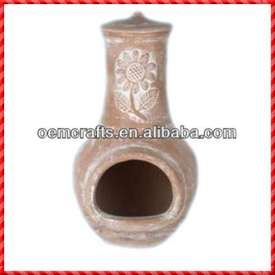 Hot-selling high quality terracotta mexico clay chimenea
