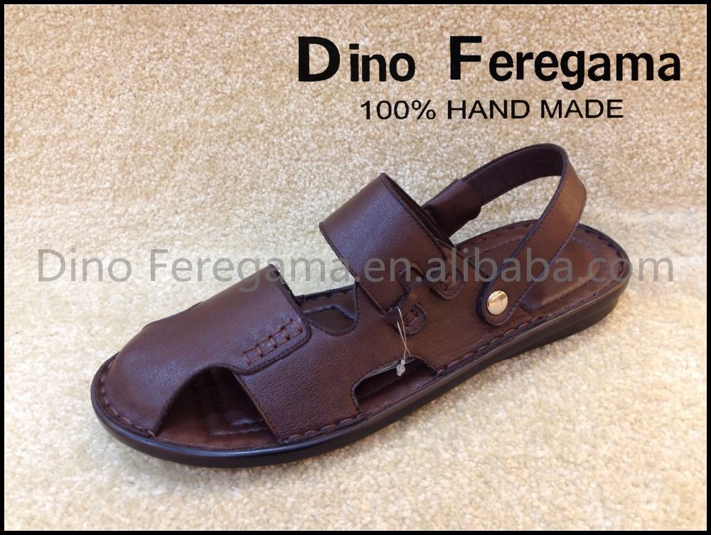 2017 new men leather <strong>sandals</strong> and slippers fashion model for beach man shoes
