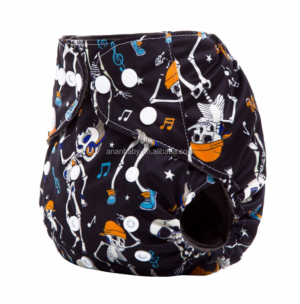 JC Trade Custom Design Double Gussets Bamboo Charcoal Cloth Diapers