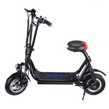 China wholesale 500w 36v 12ah lithium battery foldable 2 wheel electrical scooter with CE