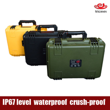 Shanghai manufactury Tricases 2016 new waterproof hard plastic protective equipment box/case with handle