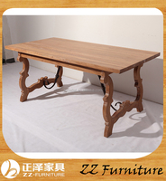 Chinese antique furniture best selling Dining room iron leg dining table