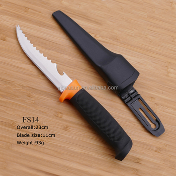 TPR rubber handle stainless steel fishing fillet knife