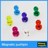 Magnetic Push pin hot sale transparent pushpin whiteboard magnet