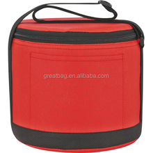 New design promotion portable insulated round beer bottle picnic cooler bag
