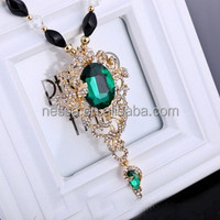 fashion long chain genuine austrian crystal jewelry NSNK-32473