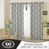 New style beautiful fashion finished curtain ,jacquard blackout curtain fabric ,ready made curtain