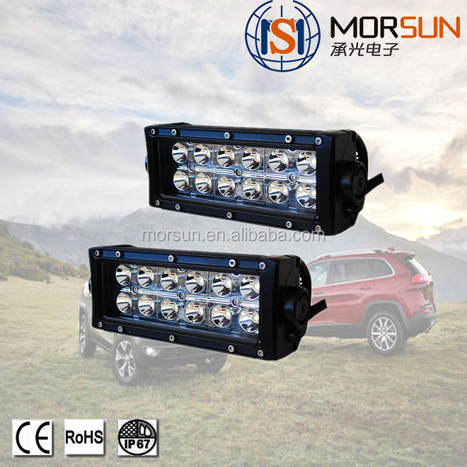 LED Light Bulb 4x4 Offroad LED Light Bar Double Row 36w 7.5 inch Auto LED Light Bar for TRUCKS ATV SUV Auto Part