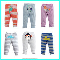 Hot sale 100% cotton cute embroirdery kids / children / baby pants for autumn