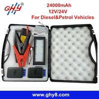 2015 New Design 12/24V 24000mAh Power Bank Jump Starter Battery Booster pack for Petrol and Diesel Cars