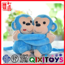 Colorful monkey toy , blue monkey stuffed toy creative animal mascot toy