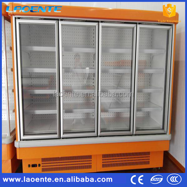 Low Power Consumption Refrigerator Glass Door Refrigerator Used Convenience Store Equipment
