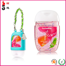Wholesale bulk mini pocket 1 oz hand sanitizer with silicone holder
