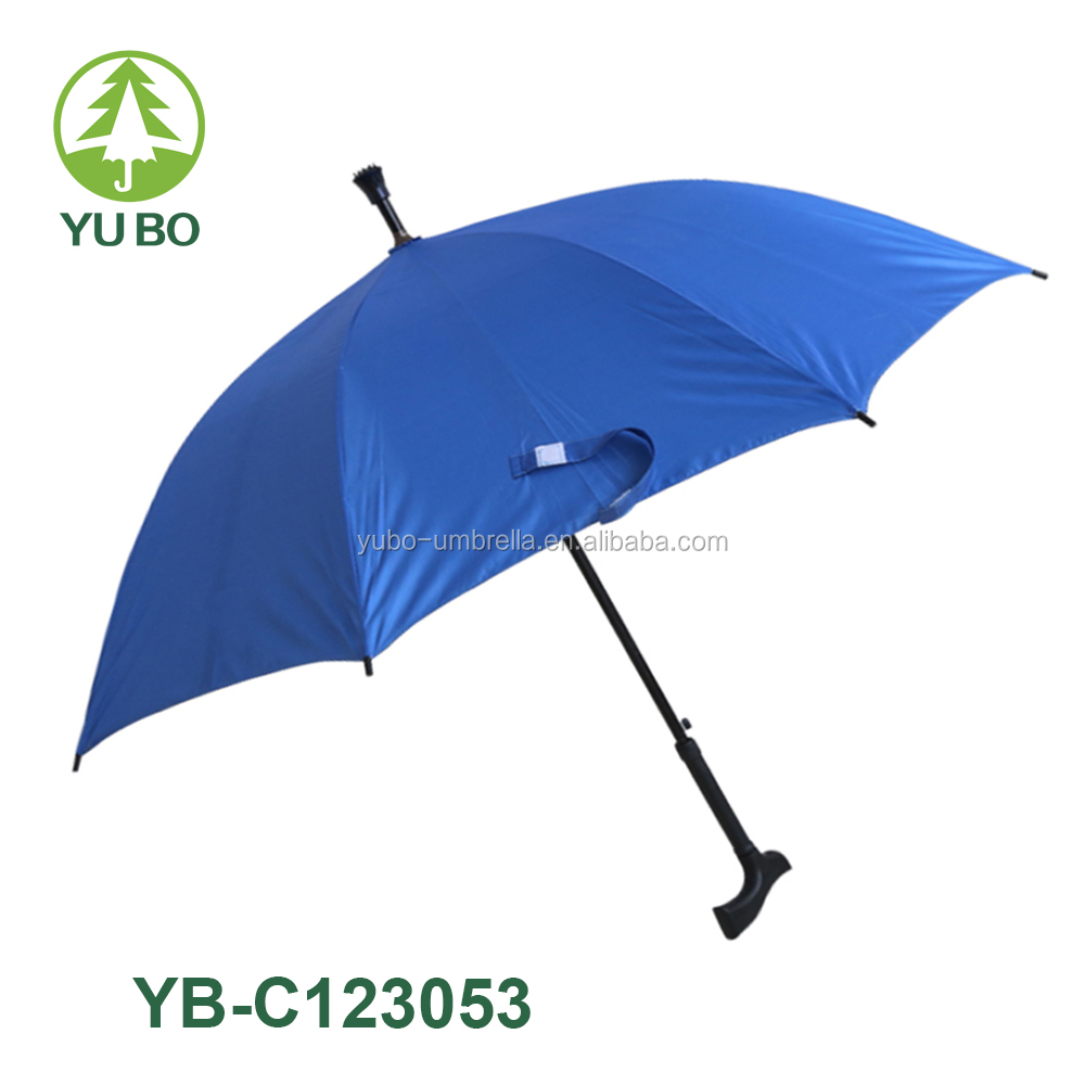 Straight automatic open cheap walking stick umbrella, crutch umbrella,special umbrella