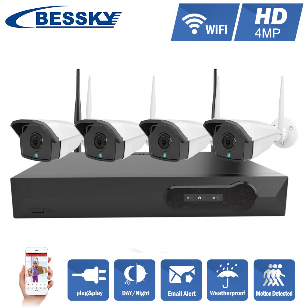Shenzhen waterproof 4mp Wifi Onvif P2p ip camera Wireless 5ghz cctv Home Security Video Camera System