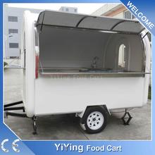 Stainless Steel With Wheel Mobile Coffee Trailer For Sale