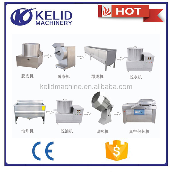 new technology factory price automatic potato chips making machine