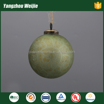 2017 cheap green glass baubles products christmas ornament