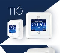 Weekly Programmable Underfloor Heating Thermostat with Touch Screen Green