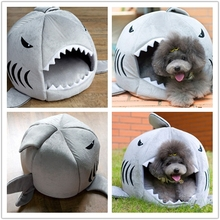 soft material removable pet bed memory foam shark shape pet house dog bed