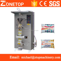 Factory Make automatic sachet liquid pouch bag water sealing machine packages