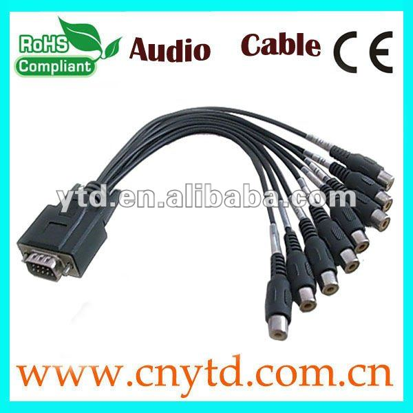 black color monitor cable, db25 to bnc cable